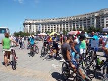 Concurrence de recyclage à Bucarest Photos libres de droits