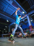 Concurrence de Rollerblading Photographie stock