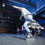 Concurrence de Rollerblading Photo stock