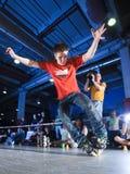 Concurrence de Rollerblading Images libres de droits