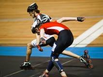 Concurrence de Rollerskating Photos libres de droits