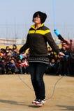 Concurrence de saut de corde Image libre de droits