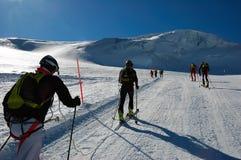 concurrence de Ski-alpinisme Image libre de droits
