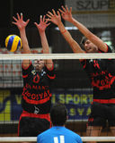 Concurrence de volleyball d'hommes Photo libre de droits