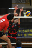 Concurrence de volleyball d'hommes Photo stock
