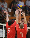 Concurrence de volleyball d'hommes Photos libres de droits