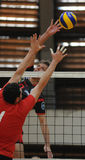 Concurrence de volleyball d'hommes Image libre de droits
