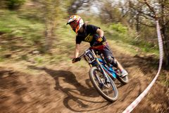 Concurrence extrême de vélo de montagne Photo libre de droits