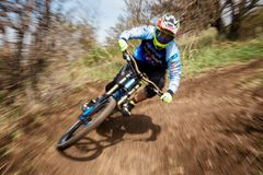 Concurrence extrême de vélo de montagne Image stock