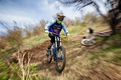 Concurrence extrême de vélo de montagne Images stock