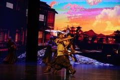 Concurrence-grand  de show†de scénarios d'échelle de Wushu le  de legend†de route Photos libres de droits