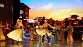Concurrence-grand  de show†de scénarios d'échelle de Wushu le  de legend†de route Photographie stock libre de droits