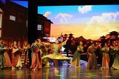 Concurrence-grand  de show†de scénarios d'échelle de Wushu le  de legend†de route Images libres de droits