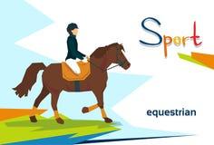 Concurrence handicapée d'Equestrian Horse Sport d'athlète Images libres de droits