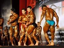 Concurrence indienne de bodybuilders photo libre de droits