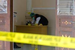 Concurrence indonésienne de scène du crime Photographie stock