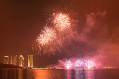 Concurrence internationale 2013 de feux d'artifice de Putrajaya Photographie stock