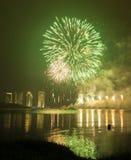 Concurrence internationale 2013 de feux d'artifice de Putrajaya Photographie stock