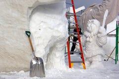 Concurrence internationale de sculpture sur neige Image libre de droits