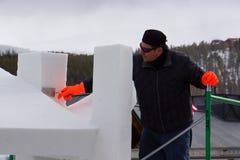 Concurrence internationale de sculpture sur neige Image stock