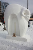 Concurrence nationale de sculpture sur neige - le Lac Léman, WI Photographie stock