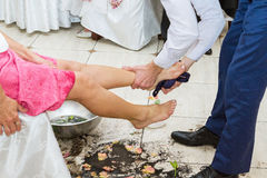 Concurrence pour le mariage Images stock