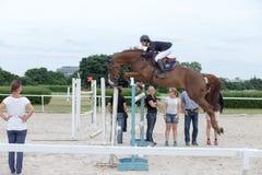 Concurrence sautante internationale. Photo libre de droits