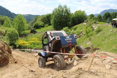 Concurrence tous terrains Smolyan 4x4 Bulgarie - Smolyan Photographie stock libre de droits