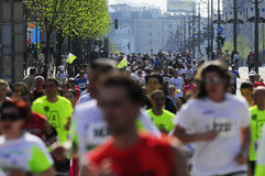 Concurrent couru pendant la course de marathon Photographie stock