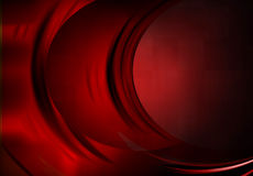 Concurrent Curves: Red Royalty Free Stock Image