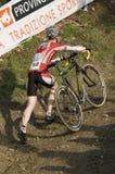 Concurrent de chemin de bicyclette Photos stock