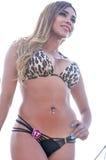 Concurrent de concours de bikini Images stock