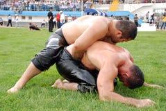 Concurrent de lutteur Photos libres de droits