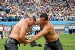 Concurrent de lutteur dans le stade Photo stock