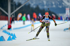Concurrent de ski photo stock
