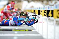 Concurrent de ski image libre de droits