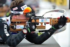 Concurrent in IBU Youth& Junior World Championships Biathlon royalty-vrije stock afbeeldingen