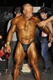 Concurrent masculin de bodybuilding étant bronzé Images libres de droits