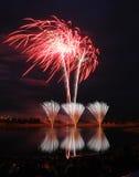 Concurrentie 2008 van het vuurwerk Stock Afbeelding