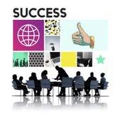 Concurrentie die van de succesvoltooiing Victory Concept winnen Stock Foto