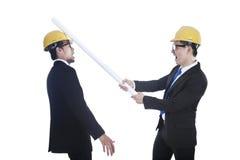 Concurrentie tussen ingenieurs Stock Afbeeldingen