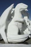 Concurrentie van het Beeldhouwwerk van de Sneeuw van Breckenridge Stock Afbeelding