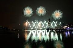 Concurrentie 2013 van het Putrajaya Internationale Vuurwerk Royalty-vrije Stock Fotografie