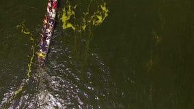 Concurrentie van het roeien en canoeing stock videobeelden