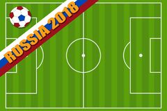 Concurrentie van voetbal in Rusland 2018 Royalty-vrije Stock Afbeelding
