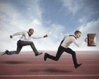 Concurrentie in zaken Stock Fotografie