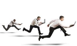 Concurrentie in zaken Stock Afbeelding