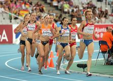Concurrents des femmes de 1500m Photo libre de droits