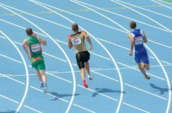 Concurrents des hommes de 200m photos libres de droits