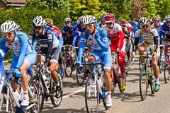 Concurrents et équipes dans le dâItalia 2010 de chèques postaux Images libres de droits